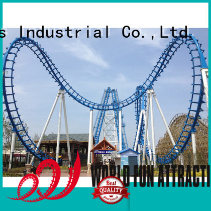 World Fun Attractions roller coaster for sale bungee parachute coaster family