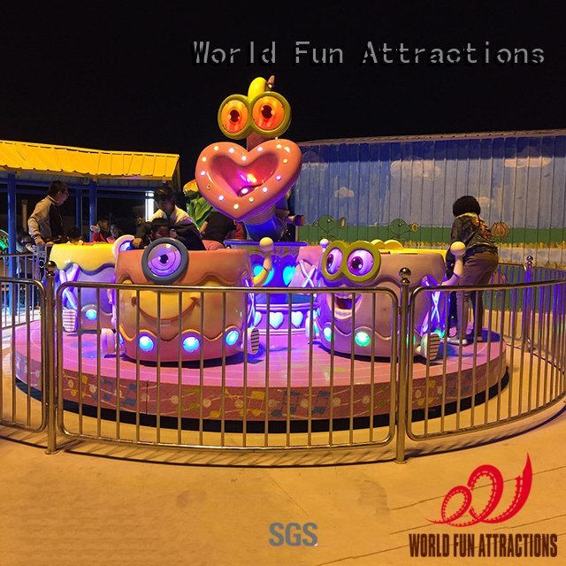 Custom rabbit swing ride cup amusement park carousel