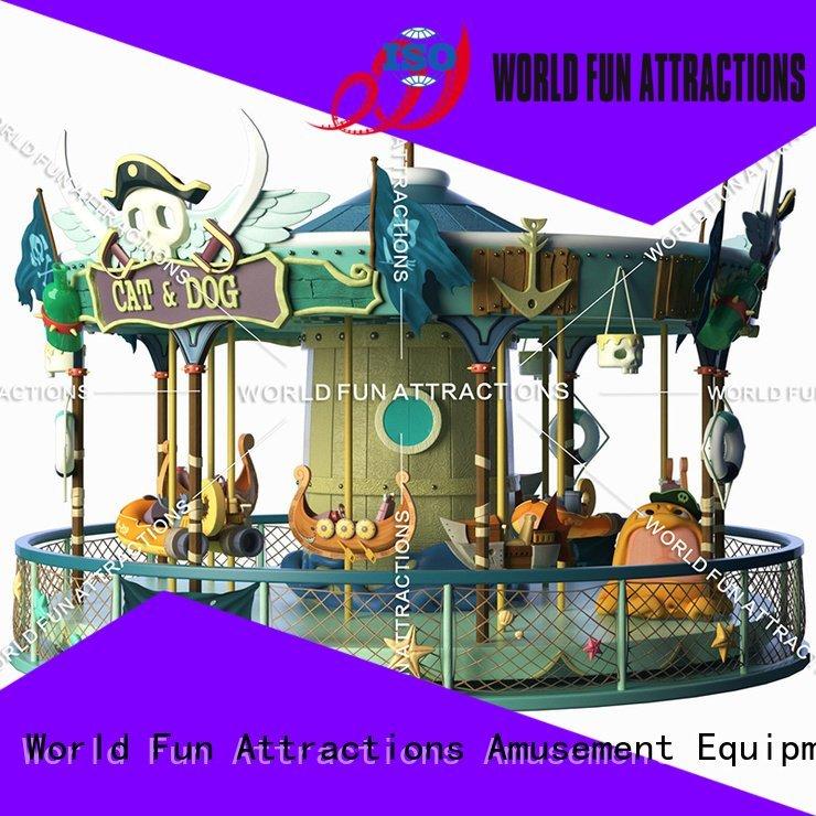Hot amusement park carousel revolving dance cake World Fun Attractions Brand