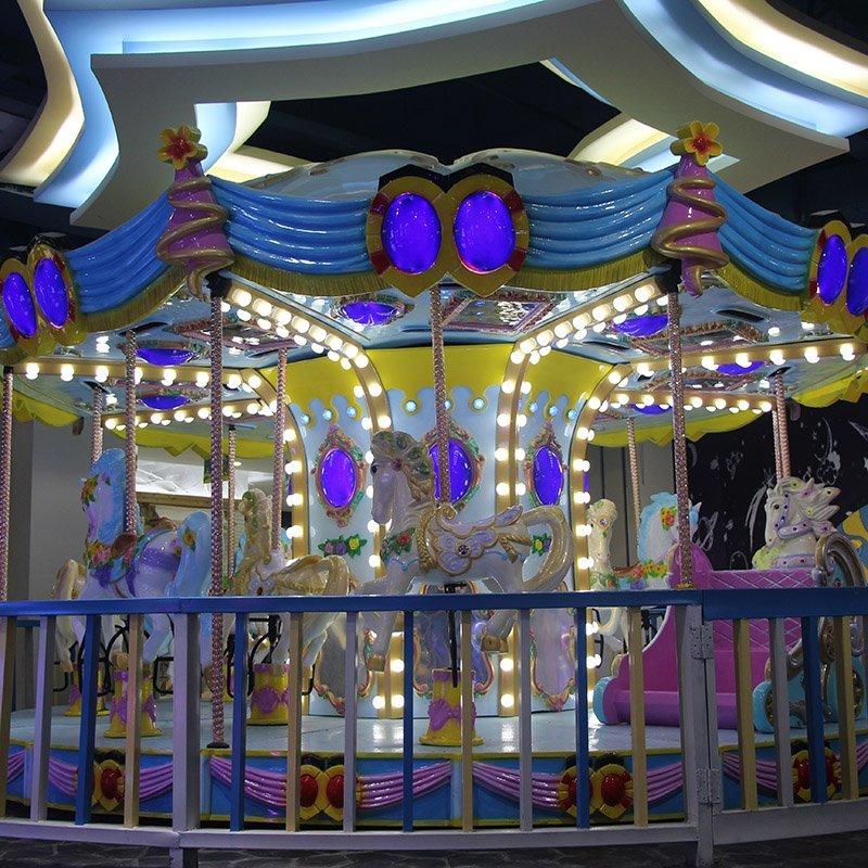OEM swing ride revolving car amusement park carousel