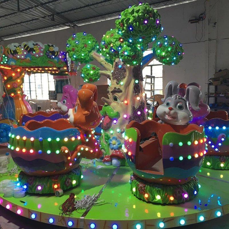 Carousel Rabbit Revolving Cup