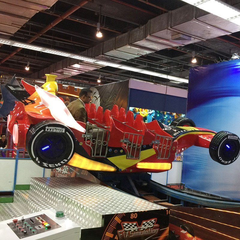Racing Car X-F1 Single and Double Wave