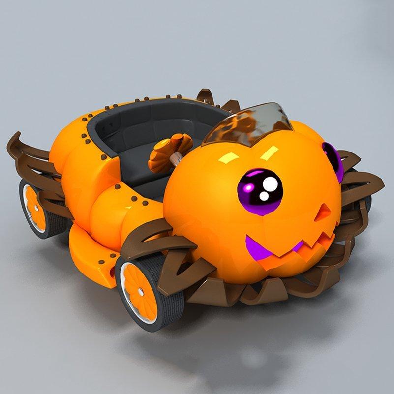 Train 18 Flat Pumpkin Cars