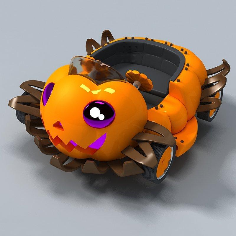 Roller Coaster High Orbit Halloween Pumpkin