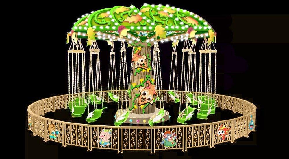 Custom jump swing ride 12 amusement park carousel