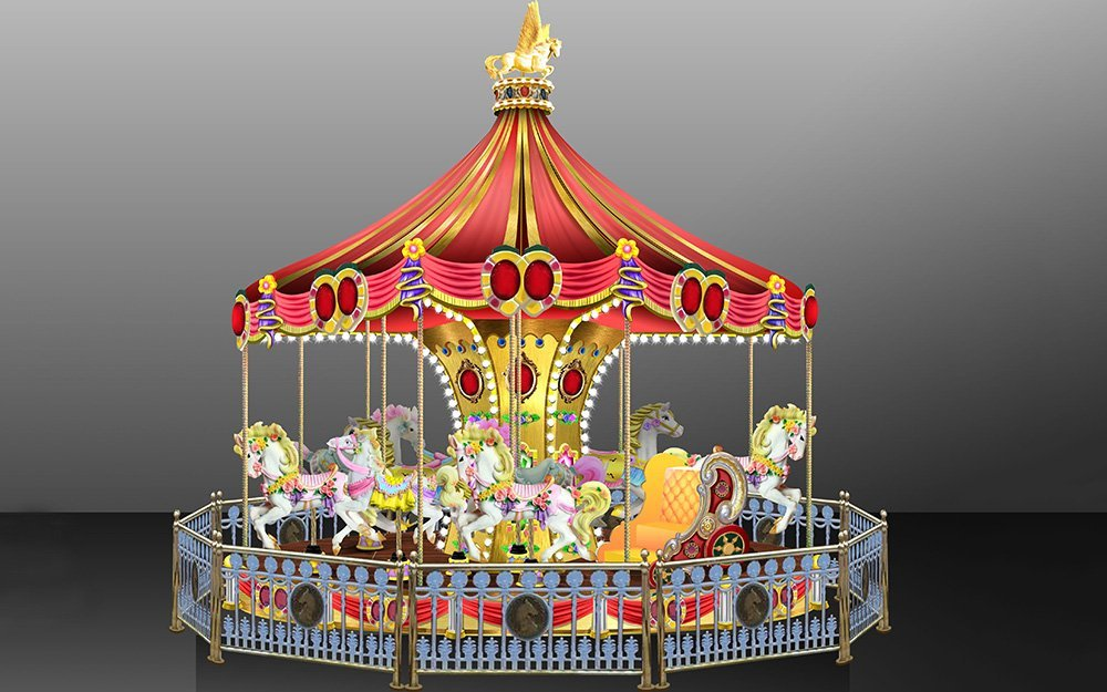 World Fun Attractions Brand 24p cake jungle amusement park carousel