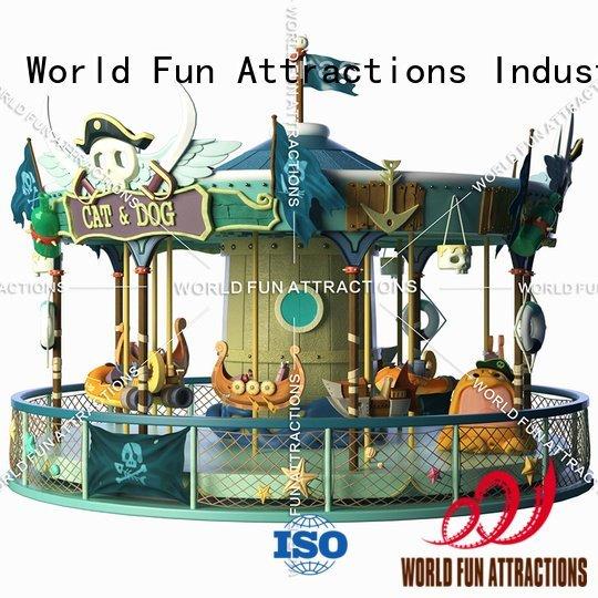 Hot amusement park carousel 11p swing ride carouselblue World Fun Attractions