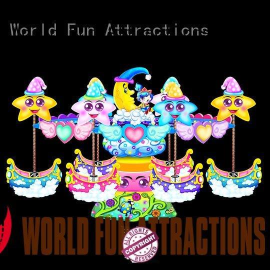 amusement park carousel gold swing ride World Fun Attractions Brand
