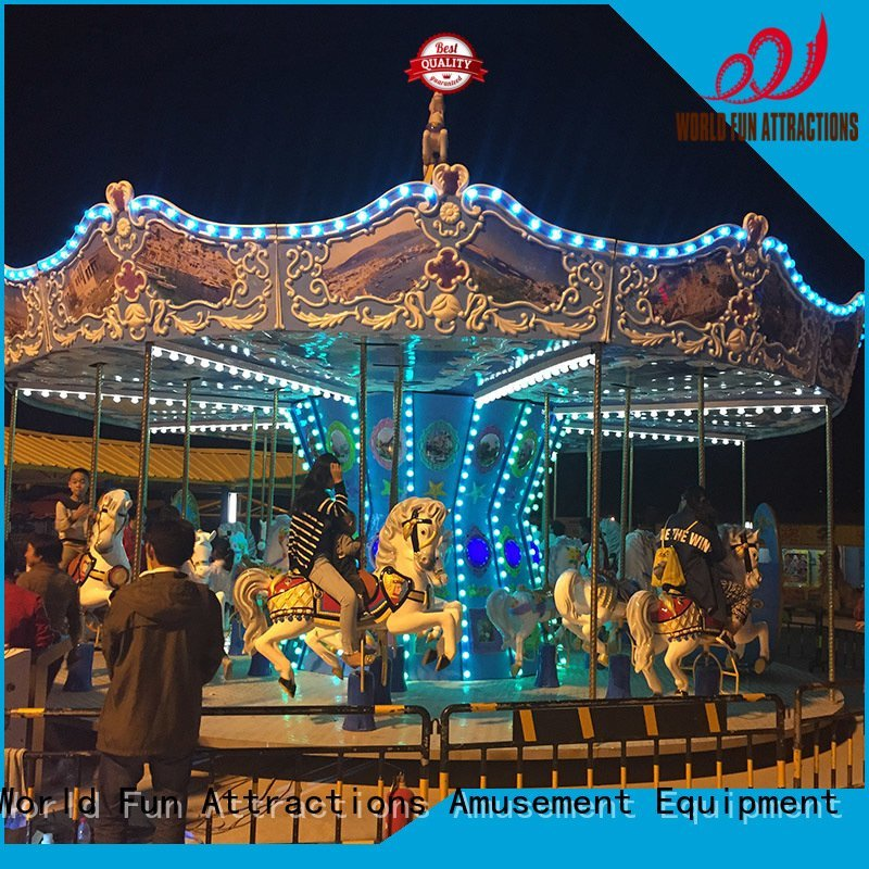Hot amusement park carousel 12p moon revolving World Fun Attractions Brand
