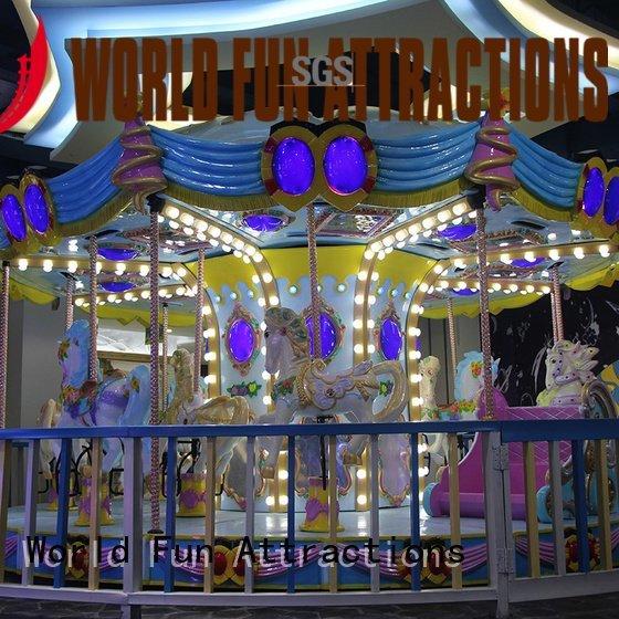 10p 12 World Fun Attractions amusement park carousel