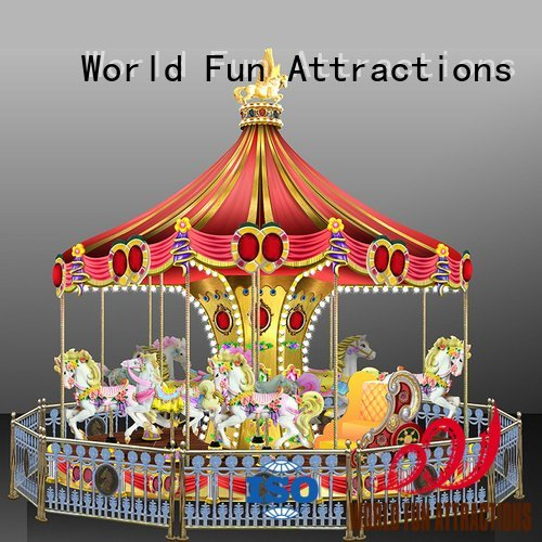 style golden 12 11p World Fun Attractions amusement park carousel