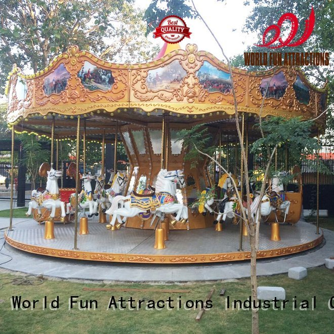 World Fun Attractions Brand flying amusement park carousel 11p jump
