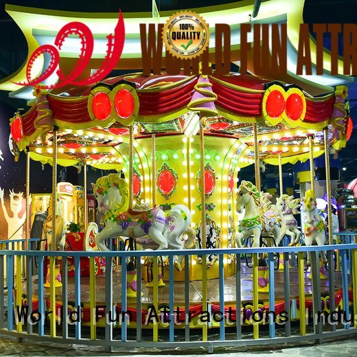 World Fun Attractions amusement park carousel dolphins car cup