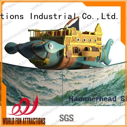 World Fun Attractions Brand 12p kids indoor amusement ship supplier