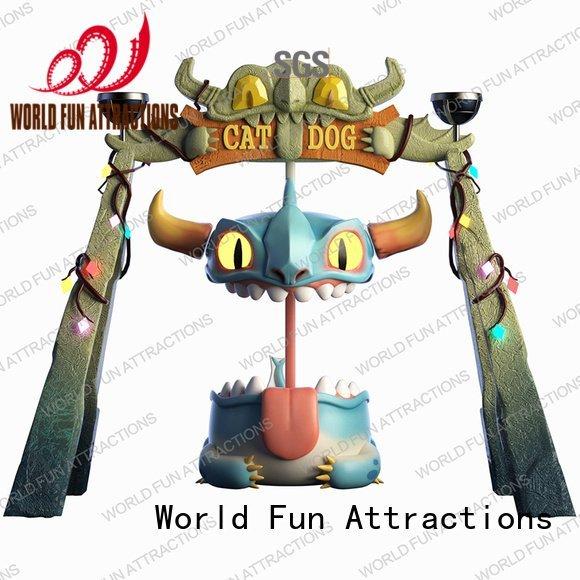 World Fun Attractions kids indoor amusement dragon frisbee chairshell