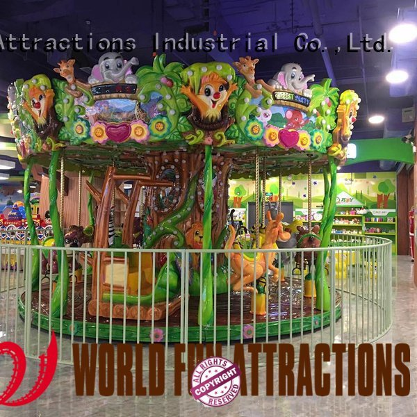 Quality amusement park carousel World Fun Attractions Brand childhood swing ride