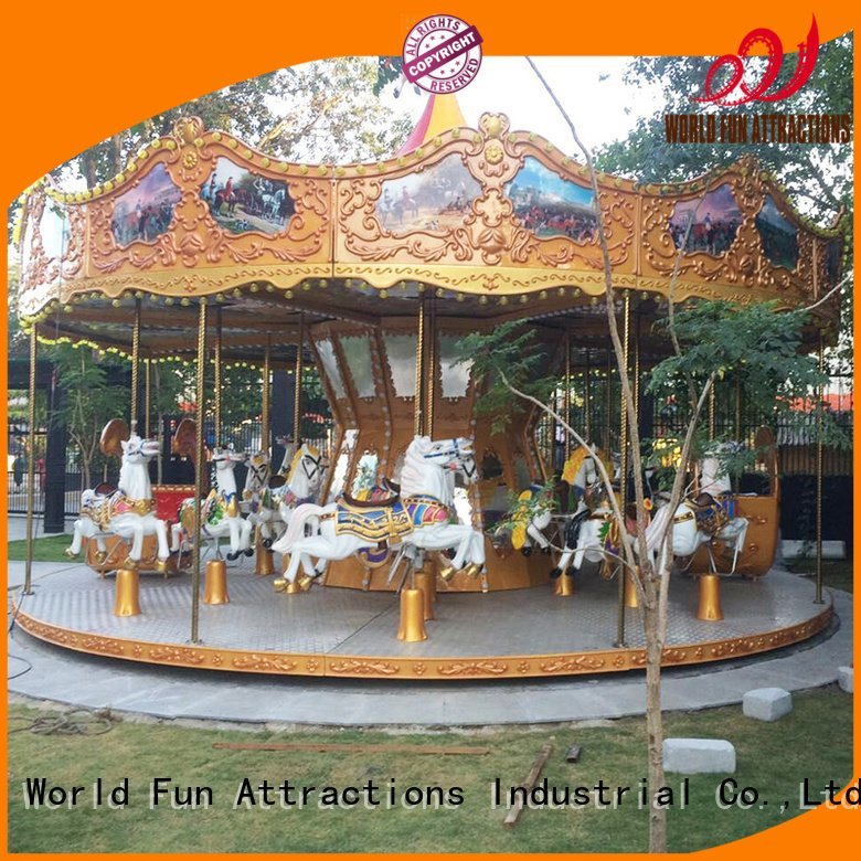 World Fun Attractions amusement park carousel tomjerry swing style