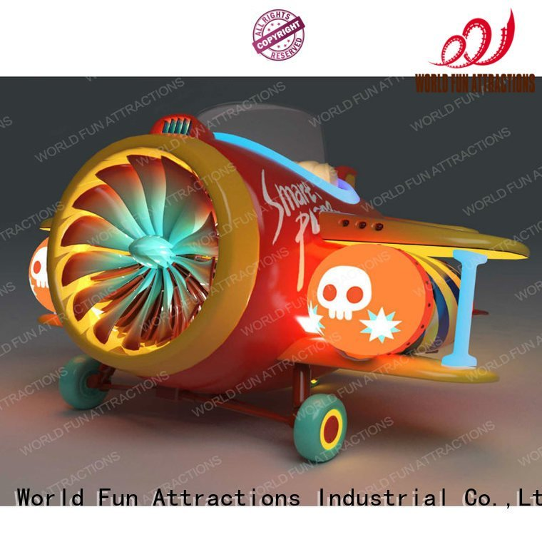 World Fun Attractions amusement kiddie rides plane drill rides submarine