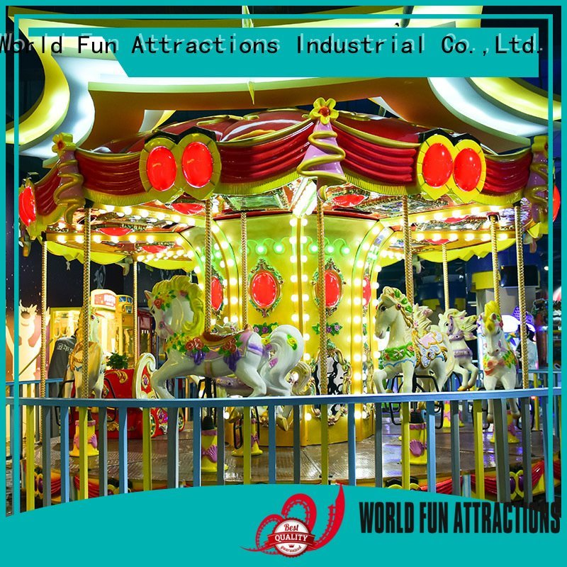 World Fun Attractions revolving cup swing ride childhood 11p