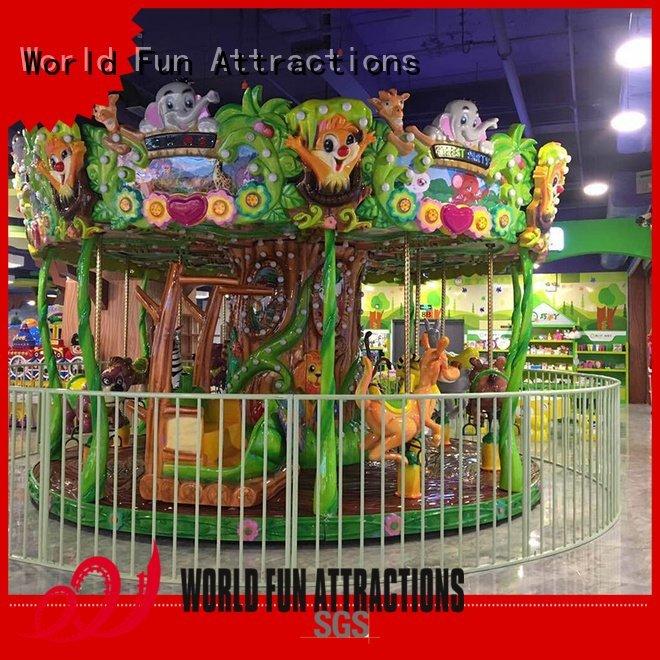 OEM amusement park carousel passionate moon style swing ride