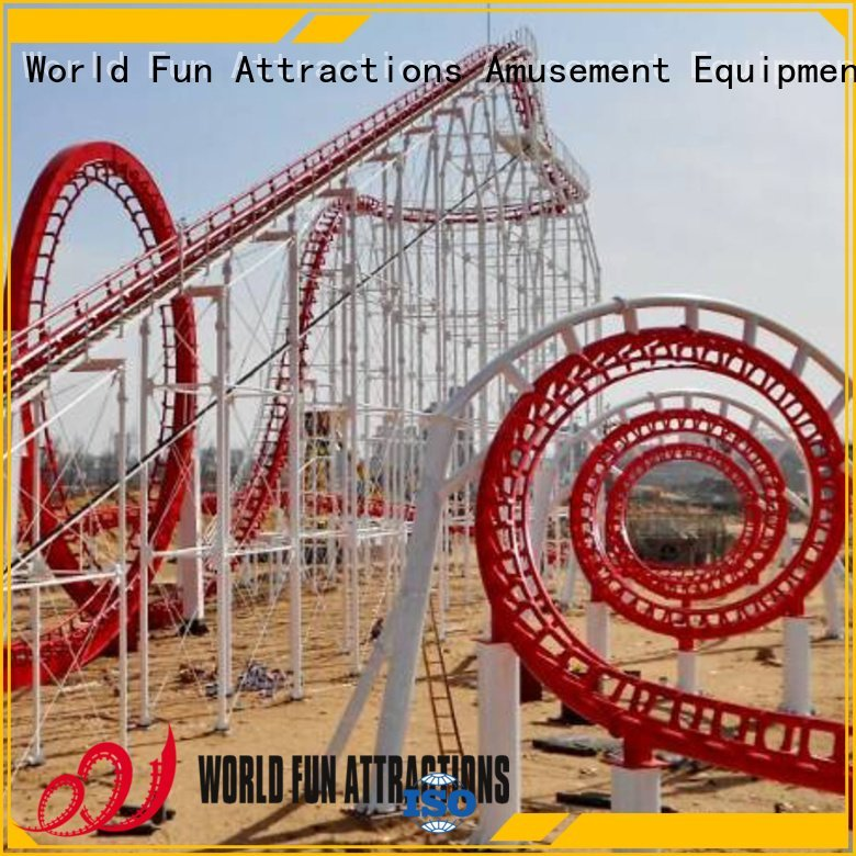 twin thrill World Fun Attractions roller coaster for sale