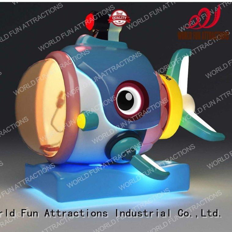World Fun Attractions amusement kiddie rides drill submarine plane