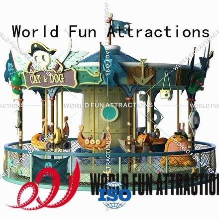 amusement park carousel revolving golden gold 12 World Fun Attractions