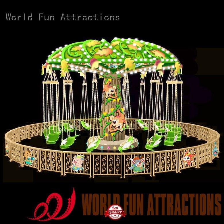 OEM swing ride 10p moon amusement park carousel