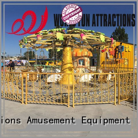 World Fun Attractions Brand 24p amusement park carousel apple dolphins