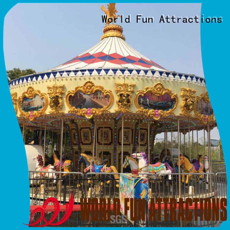 Quality World Fun Attractions Brand amusement park carousel jump cup