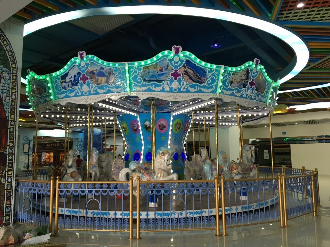 24P Ocean Carousel Amusement Equipment Manufacturer