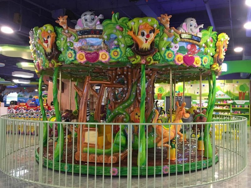 Animal Carousel 12P Jungle Theme Park Rides
