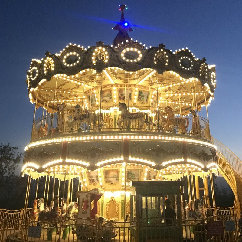 Merry Go Around Luxury Double-Deck Golden Carousel