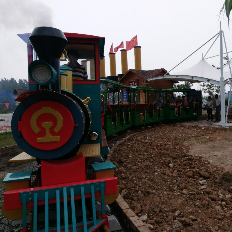 Trains with Track Amusement Rides for Midway