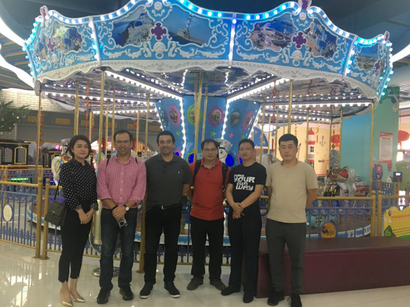 Chile customers visited WFA factory & theme park