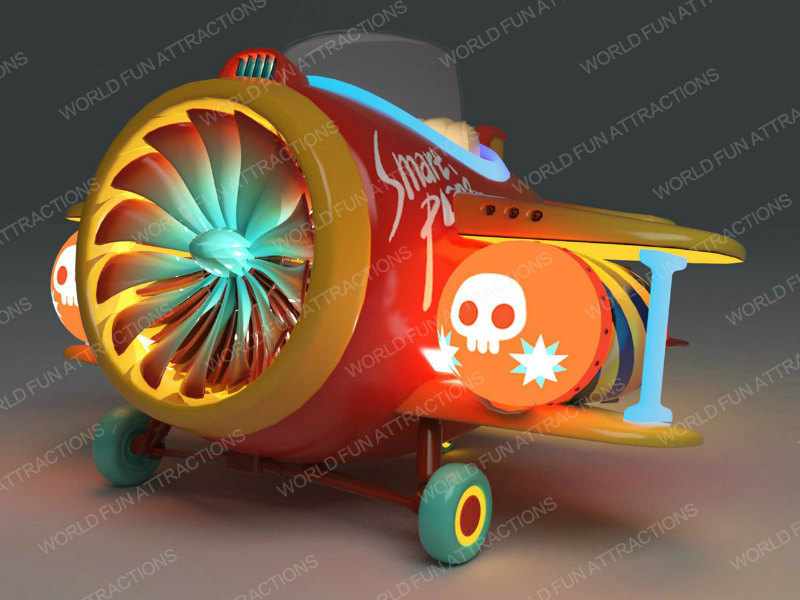 Smart Plane kiddie rides from Pirate Theme -- exhibited at 2018 GTI ASIA CHINA EXPO (Guangzhou,China)