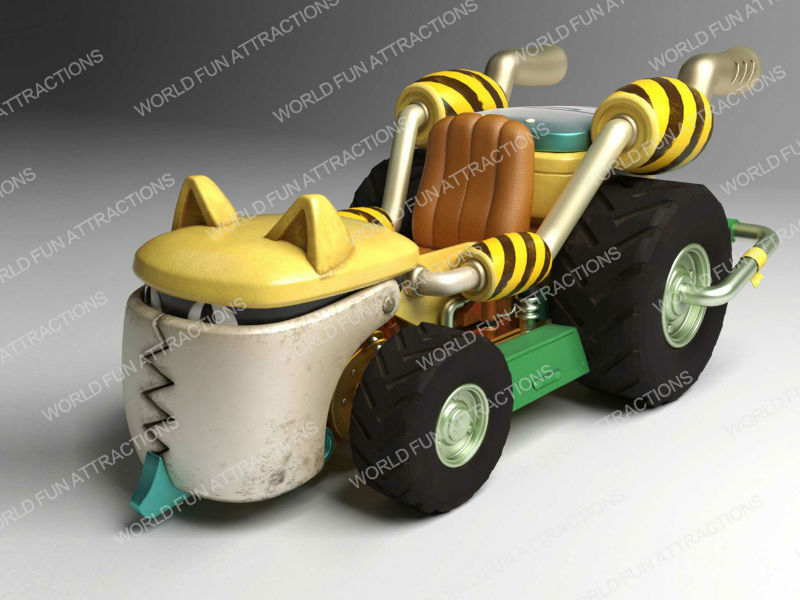 Go Kart kiddie rides from Pirate Park IP theme -- exhibited at 2018 GTI ASIA CHINA EXPO (Guangzhou,China)