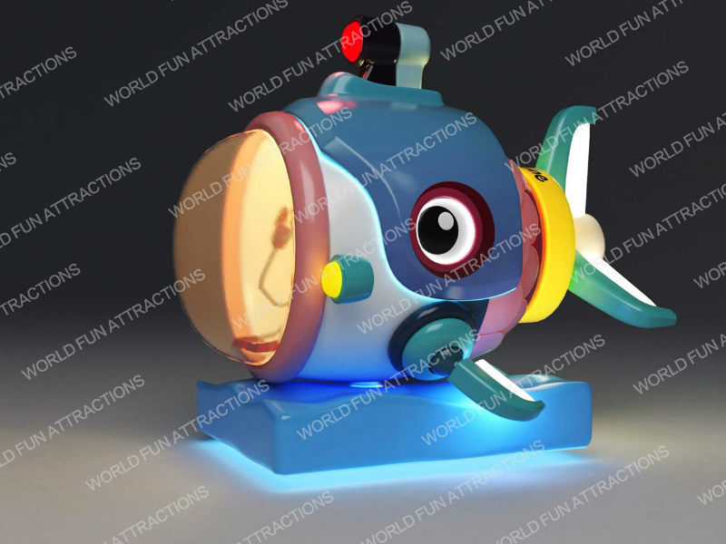 Submarine kiddie rides from Pirate Park IP theme -- exhibited at 2018 GTI ASIA CHINA EXPO (Guangzhou,China)