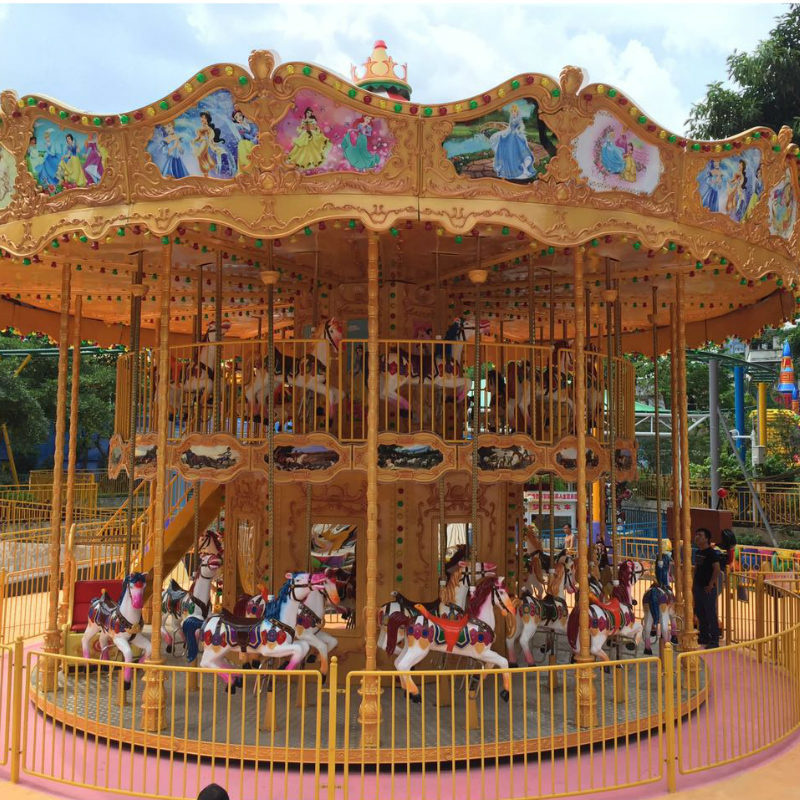 Merry Go Round 38P Luxury Double Decking Carousel