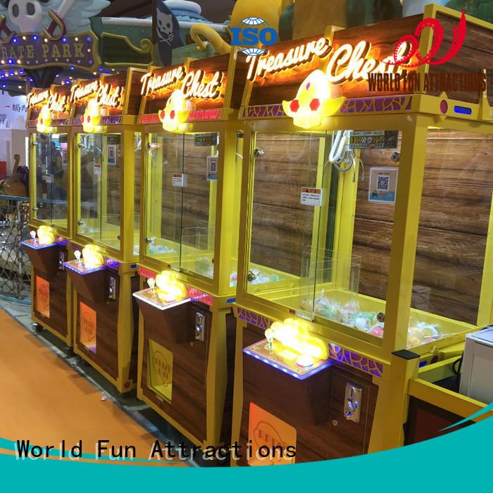 claw chest toy World Fun Attractions Brand claw crane machine supplier