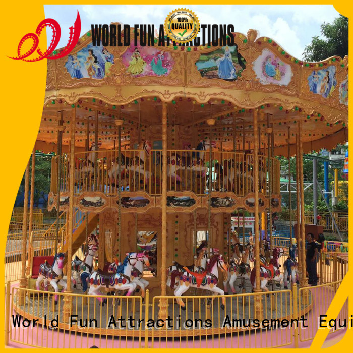 Quality World Fun Attractions Brand amusement park carousel cake carousel