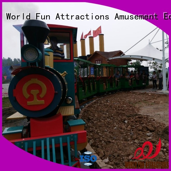 amusement park train for sale World Fun Attractions Brand trackless train for sale
